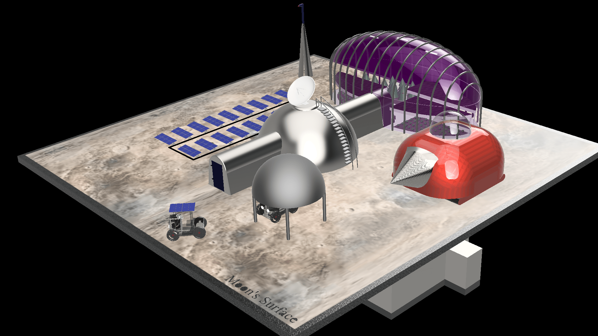 Lunar Base Design from Thessaloniki