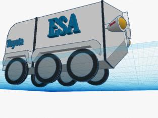 Espacial Rover das Crianças