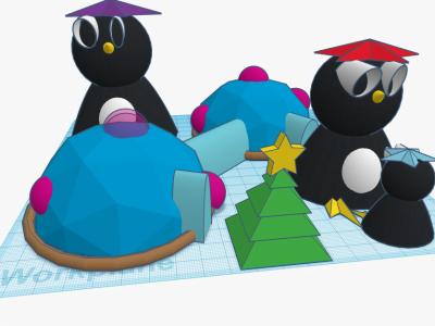 Penguin Planet Moon Base