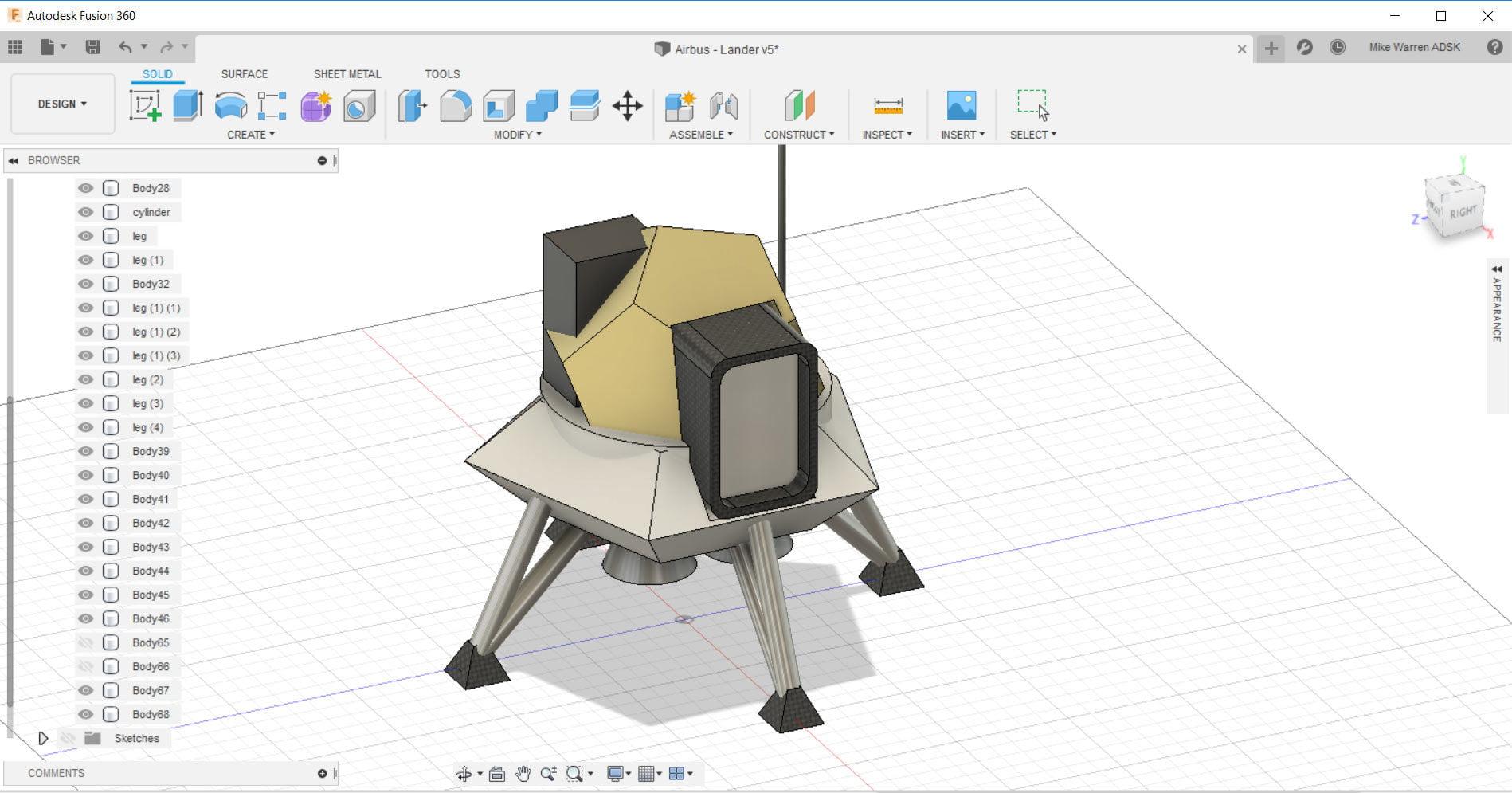 Design A Lunar Lander in Fusion 360
